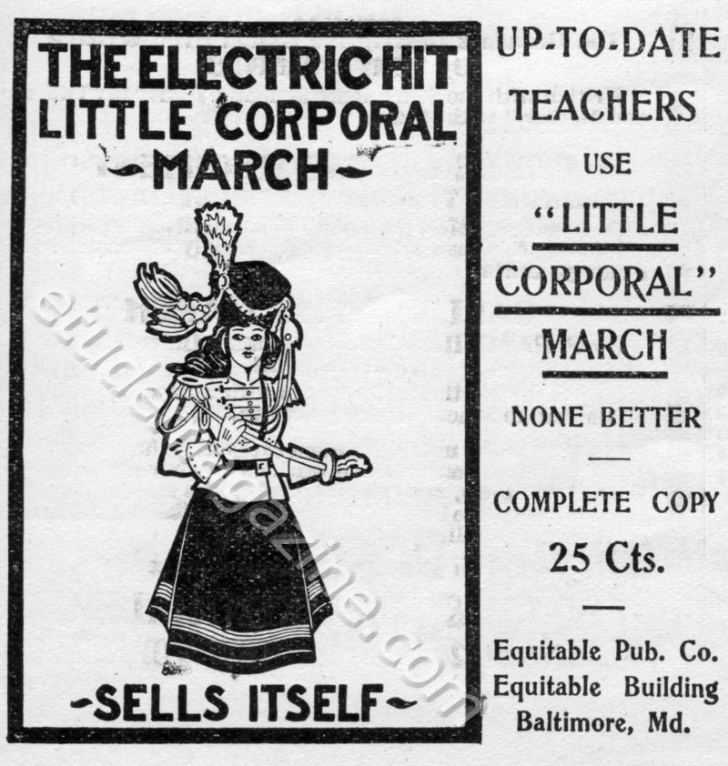THE ELECTRIC HIT LITTLE CORPORAL MARCH SELLS ITSELF