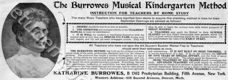 The Burrowes Musical Kindergarten Method
