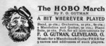 The HOBO March By F.O. Gutman. A HIT WHEREVER PLAYED