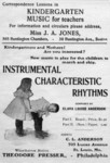 INSTRUMENTAL CHARACTERISTIC RHYTHMS Composed By CLARA LOUISE ANDERSON