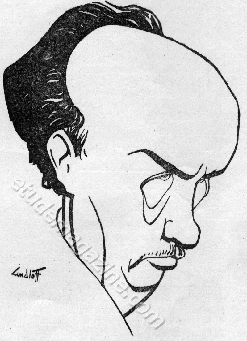 Caricature of Strauss