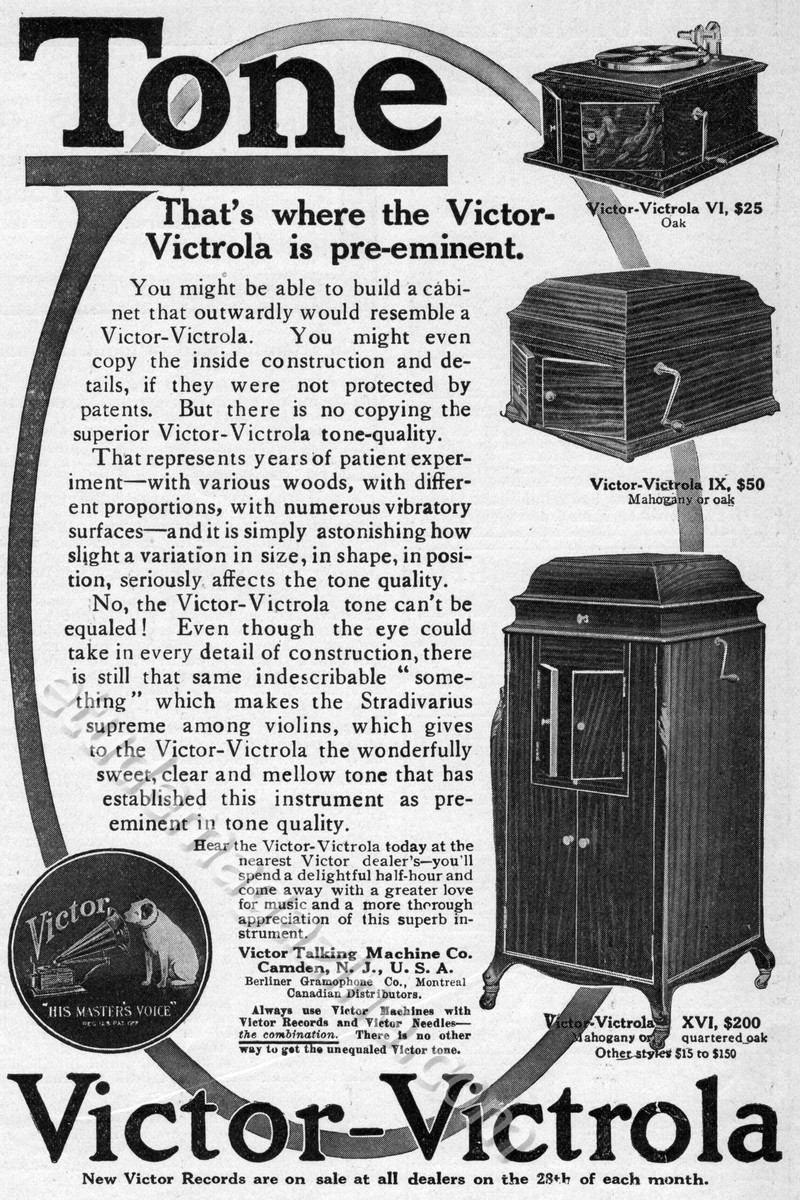 TONE. That's where the Victor-Victrola is pre-eminent