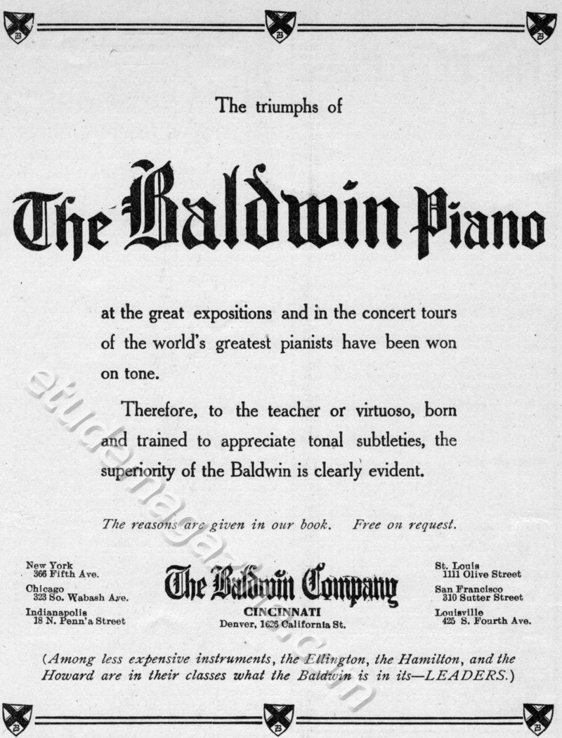 The triumphs of The Baldwin Piano