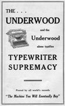 The Underwood Typifies Typewriter Supremacy