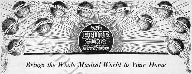 The Etude Music Magazine Brings the Whole Musical World Into Your Home