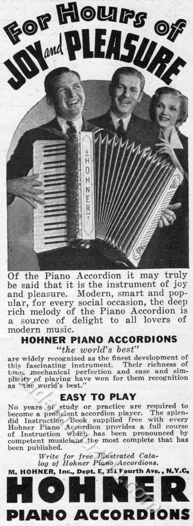 Hohner Piano Accordians