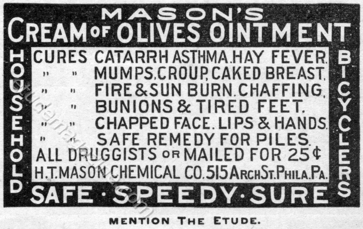 Mason's Cream of Olives Ointment