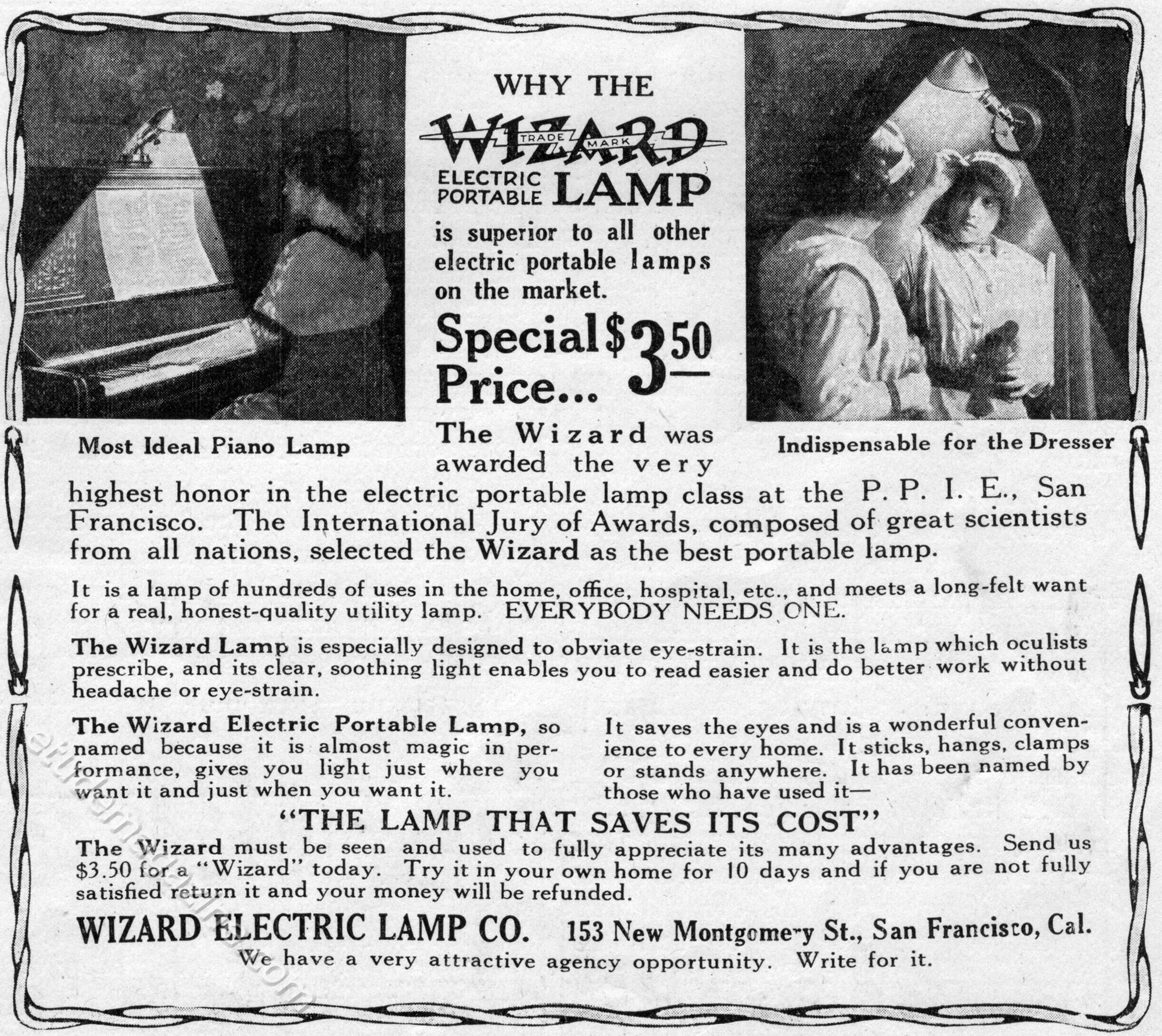 Wizard Electric Portrable Lamp