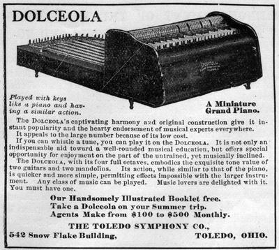 Dolceola - A Miniature Grand Piano