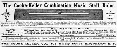 Cooke-Keller Combination Music Staff Ruler
