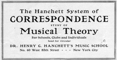 Hanchett System of Correspondence Study of Musical Theory