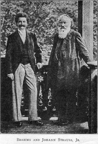Johannes Brahms and Johann Strauss, Jr.