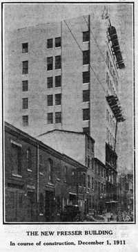 The New Presser Building. December, 1911.
