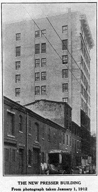 The New Presser Building. January, 1912.