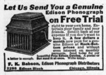 Let Us Send You a Genuine Edison Phonograph