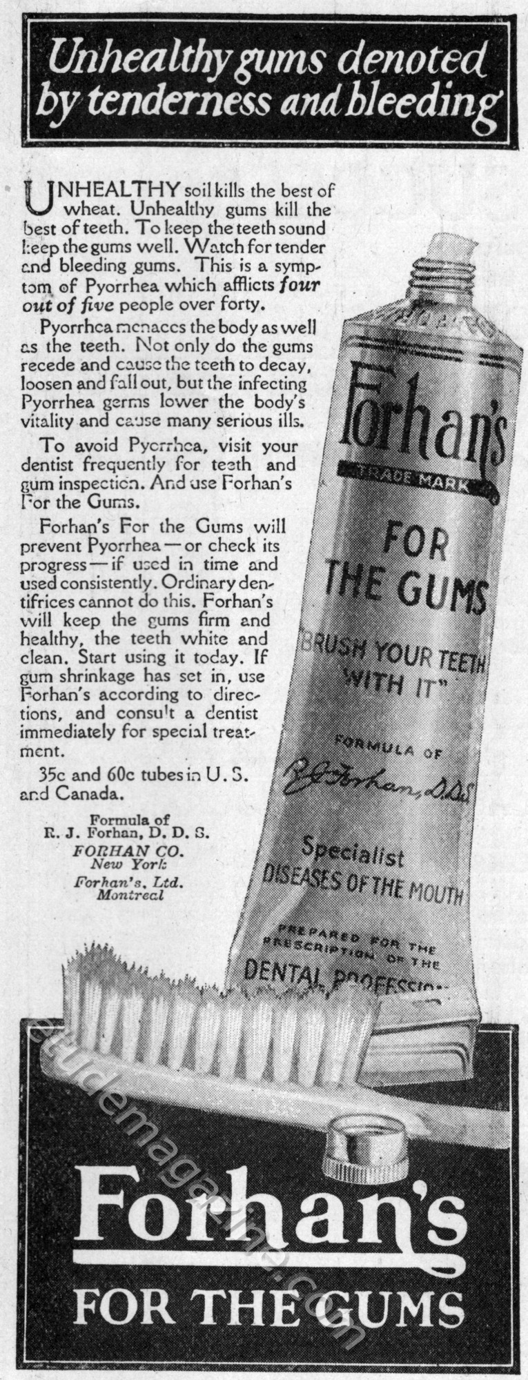 Forhan's for the Gums
